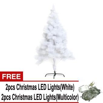 Beverly's Christmas Tree 8ft (White) with Free 4 pcs LED ChristmasLight ( White and Multicolor )