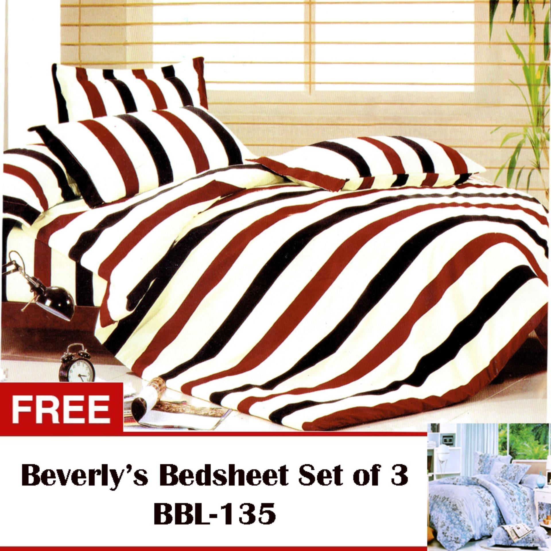 Beverly's Linen Collection Bedsheet Set of 3(BBL-085)Twin(Single)with Free Beverly's Linen Collection Bedsheet Set of3(BBL-135)Twin(Single)