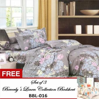 Beverly's Special Linen Collection Set of 3 Bedsheet(BBL-006)Kingwith Free Beverly's Special Linen Collection Set of 3Bedsheet(BBL-016)King