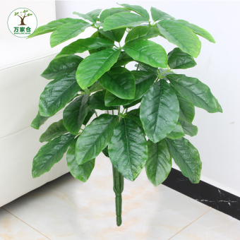 Big leaf floor artificial flowers Bonsaii model tree