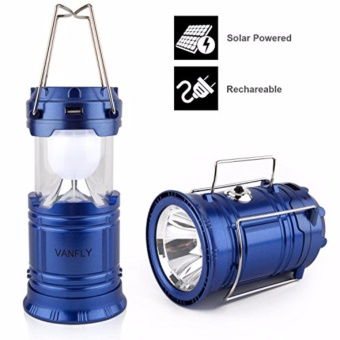 BIG Solar Rechargeable Camping Super Bright Lantern Collapsible Portable LED Camp Light Flashlight Emergency Light Power Bank for Mobile Phones Battery Powered for Sports, Camping & Hiking