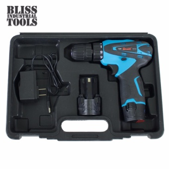 B.I.T. 12V Rechargeable Power Cordless Drill with 1 Extra Battery (Blue)