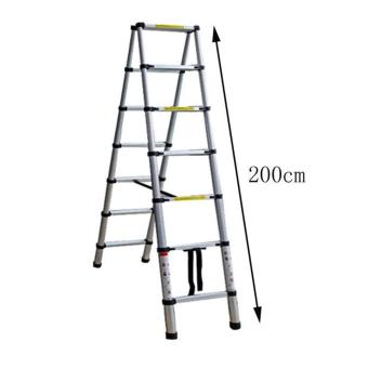 B.I.T. 2m Multi-Functional Telescopic Extension Aluminum 2+2 Ladder (Silver) - 5