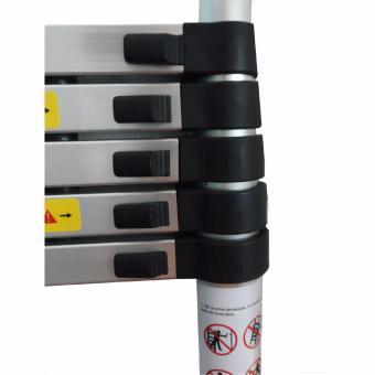 B.I.T. 2m Multi-Functional Telescopic Extension Aluminum 2+2 Ladder (Silver) - 2
