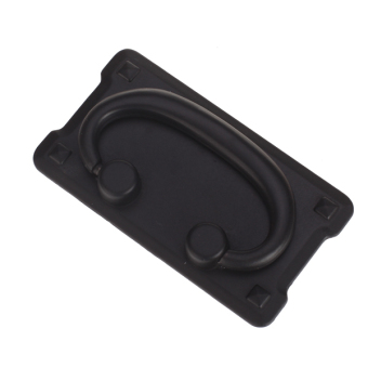 Black Horizontal Cabinet Drawer Bail Pull Handle Knob Black - picture 2