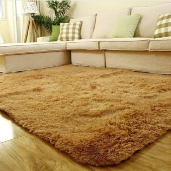 Black Horse Best Shaggy Carpet Area Rugs For Bedroom LivingRoom60cm X 40Cm-Khaki - intl