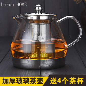 Black tea Electric Ceramic stove cook teapot kettle pot glass teapot