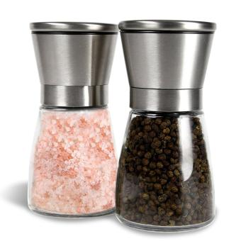 Blackhorse Premium Stainless Steel Salt & Pepper Grinder ,Pepper Mill and Salt Mill - Salt & Pepper Shaker - Ideal Gift -Spice Grinder with Adjustable Coarseness, Easy to Fill - BrushedStainless Steel - intl