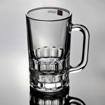 BLinkMax transparent Square Pattern lead-free beer mug cup to cup
