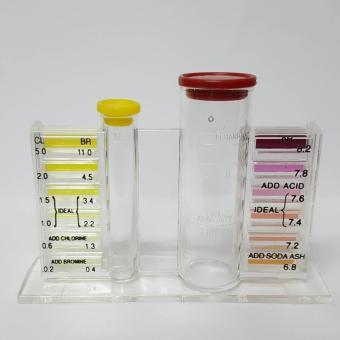 Blue Devil Chlorine/Bromine Deluxe Pool and Spa 5-in-1 Test Kit - 4