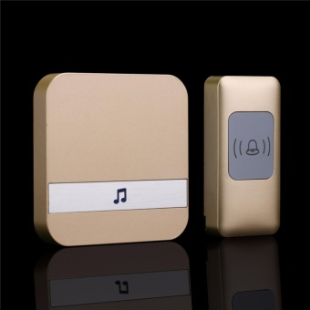 BM 2018 Wireless doorbell A9 300M Remote smart home Door bell chimeUS Plug 52 Music Gold