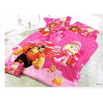 Bm 5D Us Cotton 5In1 Bedding Set Character Design Single SizeDouble Size Queen Size With Free Microfiber Hand Towel