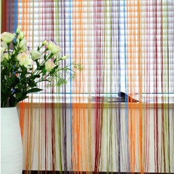 BM Romantic Line Partition 1mx2m Interior String Curtains Door BeadWindow Drapes (Colorful) Price Philippines