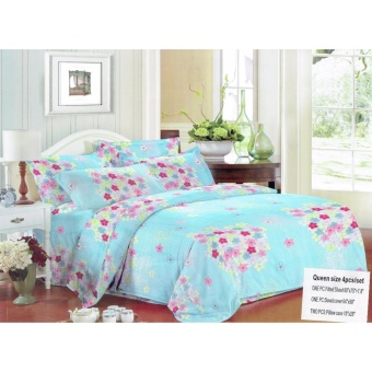 Bm Us Cotton 4Ni1 Bedsheet Excellent Quality Bedding Set Queen SizeWith Free Microfiber Hand Towel