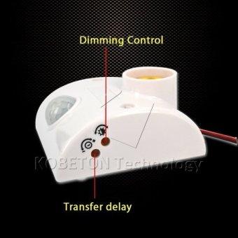 Body Infrared IR Sensor LED Bulb Light E27 Base Automatic PIRMotion Detector Wall Lamp 80W E27 Holder Socket - 2
