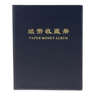 BolehDeals 20 Page Paper Money Currency Banknote Collection Album Book Dark Blue #B - intl