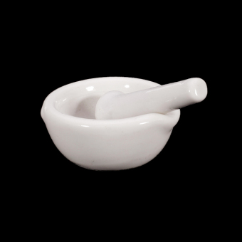BolehDeals 6ml Porcelain Mortar and Pestle Mixing Grinding Bowl Set - White Price Philippines