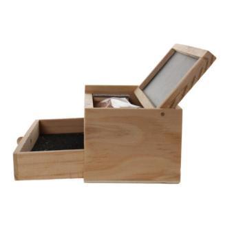 BolehDeals Multi-function Wooden Vintage Writing Case Pencil Box Pen Organizer Kid Gift - intl - 2