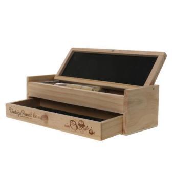 BolehDeals Multi-function Wooden Vintage Writing Case Pencil Box Pen Organizer Kid Gift - intl - 5