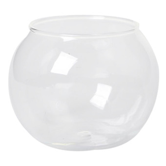 BolehDeals Round Transparent Crystal Glass Bowl Clear Sphere Vase Fish Tank Water Jar - intl