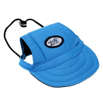 BolehDeals Small Pet Dog Cat Kitten Baseball Hat Neck Strap CapSunbonnet S