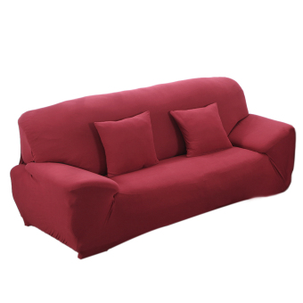 BolehDeals Spandex Stretch Lounge Sofa Couch Seat Cover Slipcover Case Home Decor Red#2 (Intl)