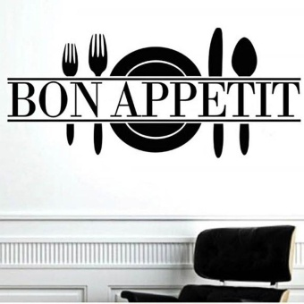 Bon Appetit Art Quote Living Room Kitchen Vinyl Wall Mural Decal Sticker BK - intl