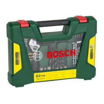 Bosch 2607017193 83 piece V-Line TiN Drill Bit & ScrewdriverBit Set with LED Torch and Adjustable Spanner