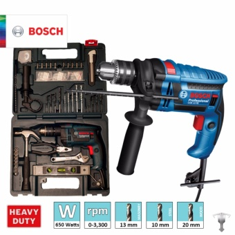 bosch gsb 13 re professional impact drill hand tools set. Black Bedroom Furniture Sets. Home Design Ideas