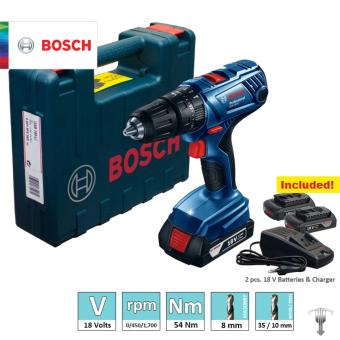 Bosch GSB 180 Li Professional 18 V Lithium Ion Cordless Impact Drill / Driver with 2 pieces 1.5 Ah Batteries Power Tool