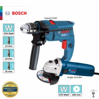 Bosch GSB 550 Impact Drill + GWS 060 Angle Grinder Combo Set Power Tool