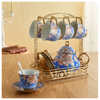 Boyi European ceramic shelf office tea cup tea suit