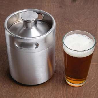 Brand New Stainless Steel 2L/64oz Mini Beer Bottle Barrels Beer KegScrew Cap Beer Growler Homebrew Wine Pot Barware For Party - intl Price Philippines