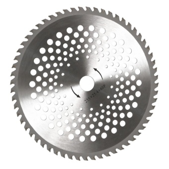 Brush Cutter String Trimmer Carbide Blade 60 Teeth 25.4X255MM For Cutting Weeds - intl