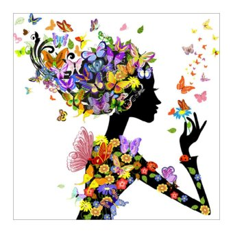 Butterfly Beauty Lady 5D Diamond DIY Painting Craft Home Decor -intl