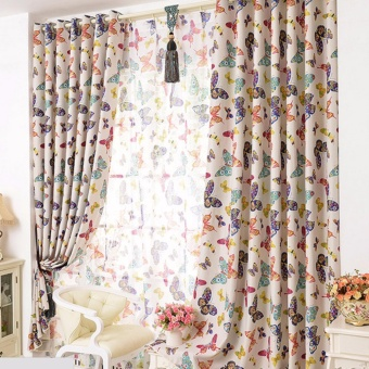 Butterfly Window Curtains for Living room Bedroom Kids ModernBlackout Curtain Window Drapes Home Decoration - intl Price Philippines