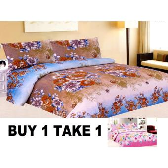 BUY 1 TAKE 1 3-Piece Queen Size Bedding with Luxury Cotton Feel-Nostalgia and Gardens of Fairies Series by Manhattan Homemaker