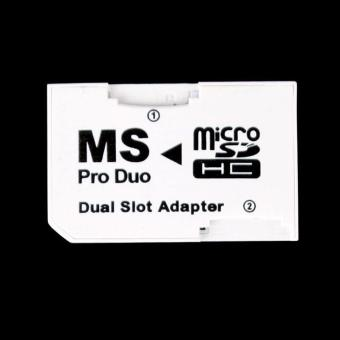 BUYINCOINS Dual Micro SD TF to MS Pro Duo Card Adapter 2 Slot