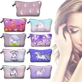BUYINCOINS Unicorn Pattern Storage Bag Idea Pencil Case CosmeticTravel Birthday Study Gift #07 - intl - 3