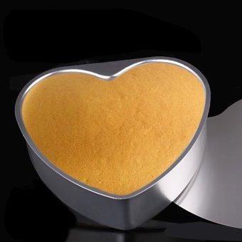 Buytra Cake Baking Mold Heart Shaped Aluminium 3''