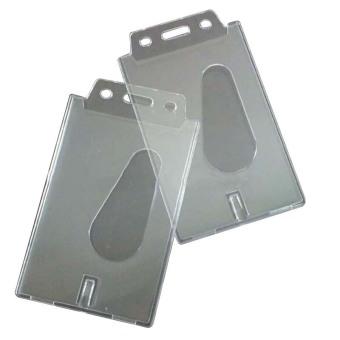 Buytra Card Holder Vertical Transparent Hard Plastic 2 Pcs