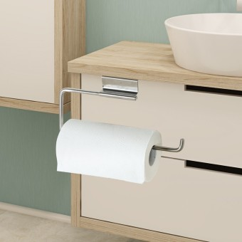 Cabinet door back-stainless steel toilet paper holder kitchen towel rack