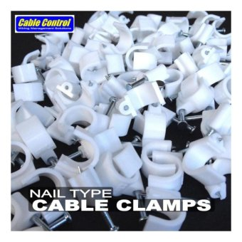Cable Control NAIL TYPE CABLE CLIPS Pack of 300 pcs 5mm 7mm10mm