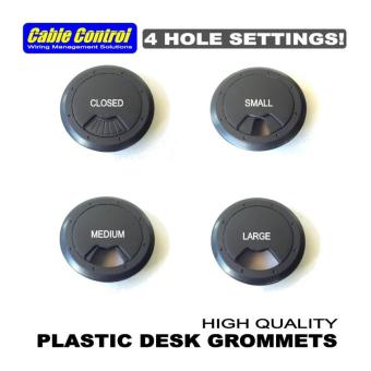 Cable Control Plastic Desk Grommets 53mm, set of 12, Office Deskgrommet, Computer Table Grommet - 3