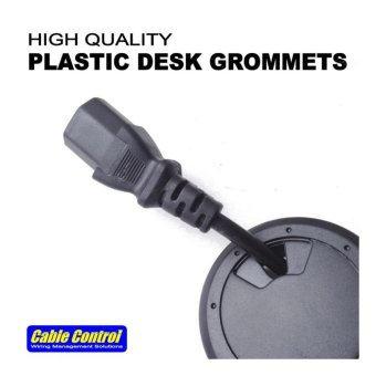 Cable Control Plastic Desk Grommets 53mm, set of 8, Office Deskgrommet, Computer Table Grommet