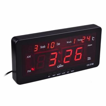 Caixing CX-2158 Digital LED Alarm Clock (Black)