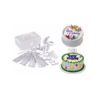 Cake Decorating Kit 100 pcs Set with Instruction Book Design Ideas