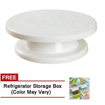Cake Decorating Turn Table Free Refrigerator Storage Box (Color mayVary