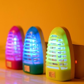 Candy Color Mosquito Repellent Lamp LED Children Outdoor Socket Night Light - intl