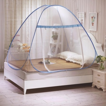 Candy Online King Size Double Bed Mosquito nets tents (Blue)